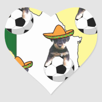 SOCCER BABY HEART STICKER