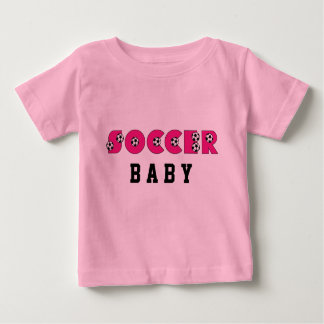 Soccer Baby in Pink with Soccer Balls Baby T-Shirt