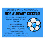 Soccer Baby Shower Invitation, Customizable
