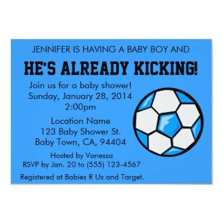 Soccer Baby Shower Invitation, Customizable 4.5x6.25 Paper Invitation Card