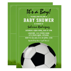 Soccer Baby Shower Personalised Invitation | It's a Boy