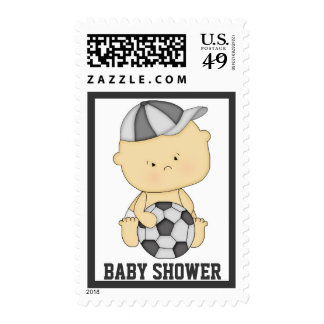 Soccer Baby Shower Postage