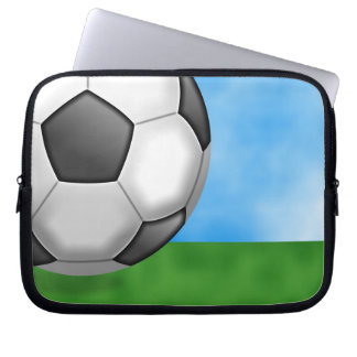 Soccer Background Computer Sleeve