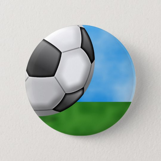 Soccer Background Pinback Button
