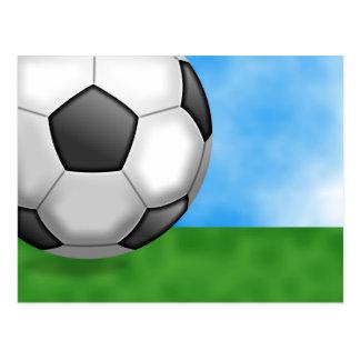 Soccer Background Postcard