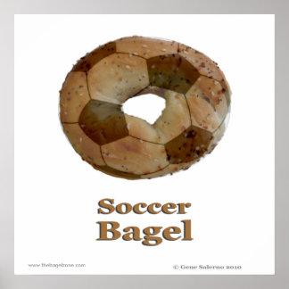 Soccer Bagel Poster