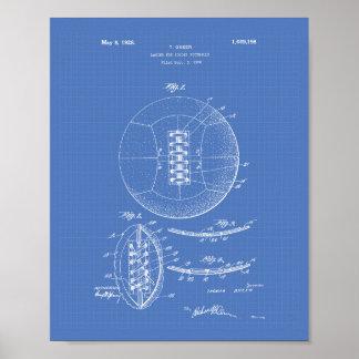 Soccer Ball 1928 Patent Art - Blueprint Poster