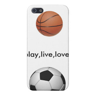 soccer-ball, 220px-Basketball, play,live,love Cover For iPhone SE/5/5s