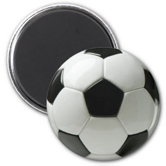 Soccer ball 2¼ Inch Round Magnet