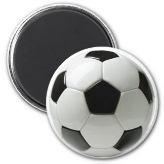 Soccer Ball 2 Inch Round Magnet
