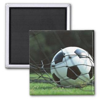 Soccer Ball 3 2 Inch Square Magnet