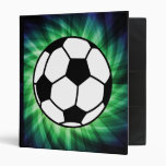 Soccer Ball 3 Ring Binders