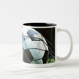 Soccer Ball 3 Two-Tone Coffee Mug