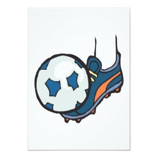 Soccer Ball 5x7 Paper Invitation Card