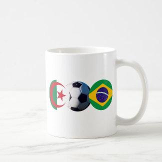 Soccer Ball Algeria & Brazil Flags The MUSEUM Zazz Coffee Mug