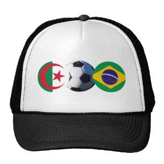 Soccer Ball Algeria & Brazil Flags The MUSEUM Zazz Trucker Hat
