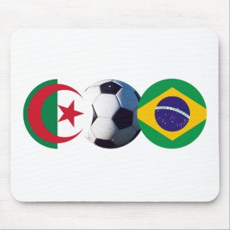 Soccer Ball Algeria & Brazil Flags The MUSEUM Zazz Mouse Pad