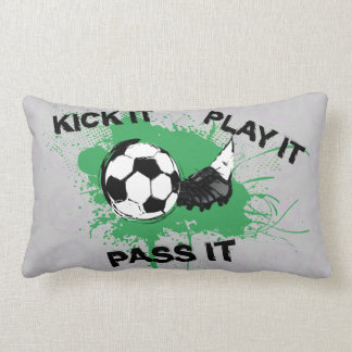 Soccer ball and boot design lumbar pillow