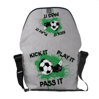 Soccer ball and boot design messenger bags