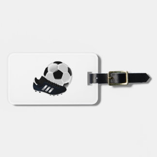 Soccer Ball and Cleats Bag Tag