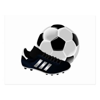 Soccer Ball and Cleats Postcard