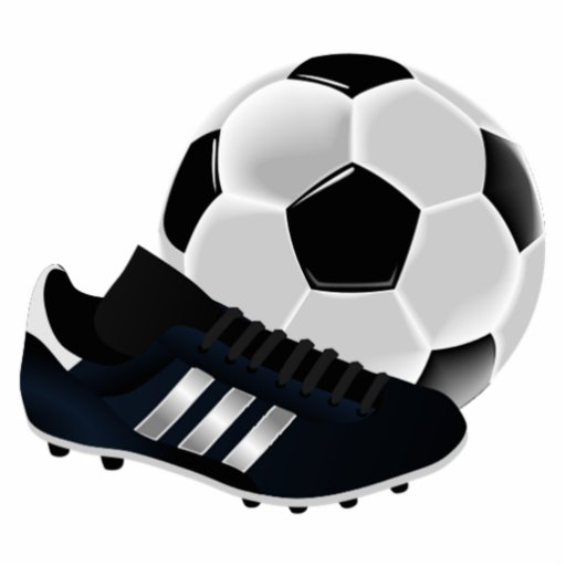 Soccer Ball And Cleats Standing Photo Sculpture Zazzle