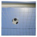 Soccer Ball and Goal 2 Ceramic Tile