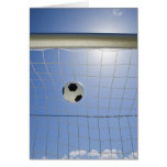 Soccer Ball and Goal 2 Greeting Card