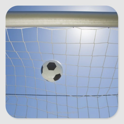 Soccer Ball and Goal 2 Square Sticker