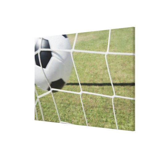 Soccer Ball and Goal 3 Gallery Wrapped Canvas