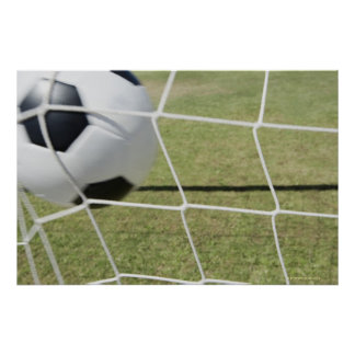 Soccer Ball and Goal 3 Poster