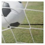 Soccer Ball and Goal Ceramic Tiles
