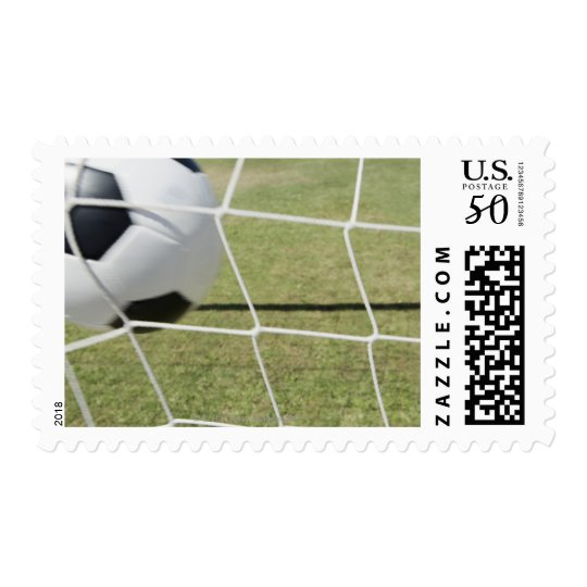 Soccer Ball and Goal Postage