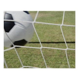 Soccer Ball and Goal Poster