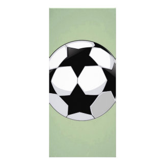 Soccer Ball and Green Vintage Background Rack Card