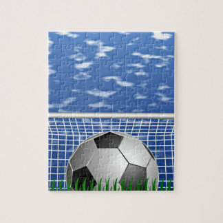 Soccer ball and net puzzles
