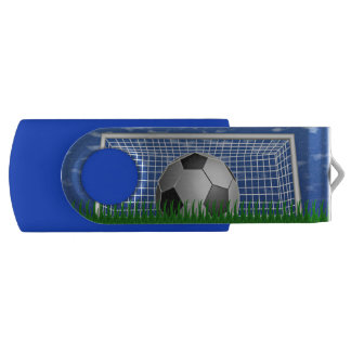 Soccer Ball and Net Swivel USB 2.0 Flash Drive