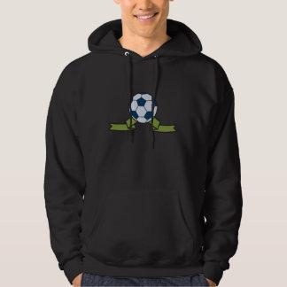 Soccer Ball And Ribbon Mens Hoodie