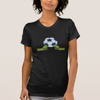Soccer Ball And Ribbon Womens T-Shirt