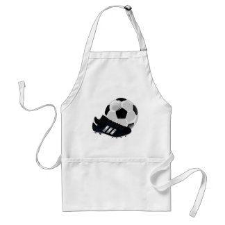 Soccer Ball and Shoe Adult Apron