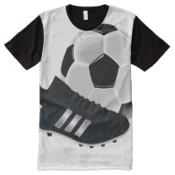 Soccer Ball and Shoe All-Over-Print T-Shirt