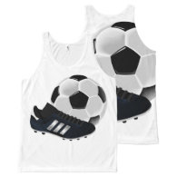 Soccer Ball and Shoe All-Over Print Tank Top
