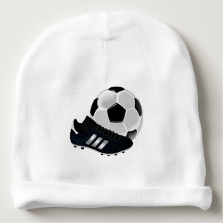 Soccer Ball and Shoe Baby Beanie