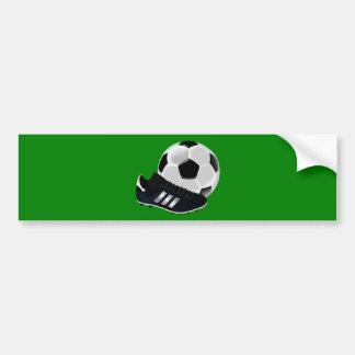 Soccer Ball and Shoe Car Bumper Sticker