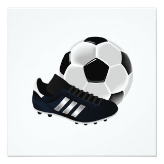 Soccer Ball and Shoe Invitation