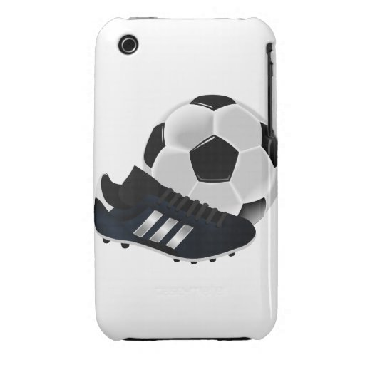 Soccer Ball and Shoe iPhone 3 Case-Mate Case