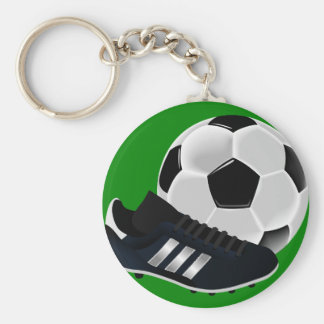 Soccer Ball and Shoe Keychain