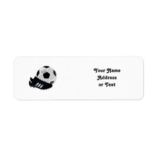 Soccer Ball and Shoe Label