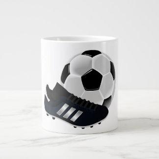 Soccer Ball and Shoe Large Coffee Mug