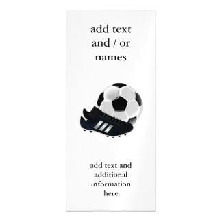 Soccer Ball and Shoe Magnetic Card